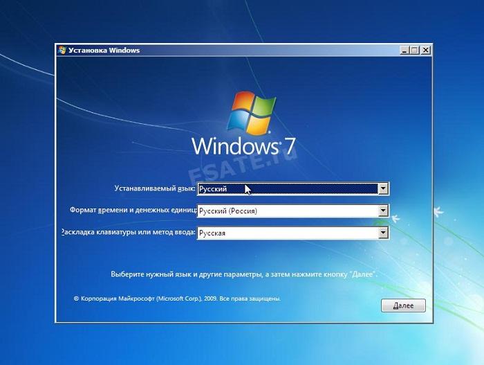 Процесс установки Виндовс 7 с USB фото