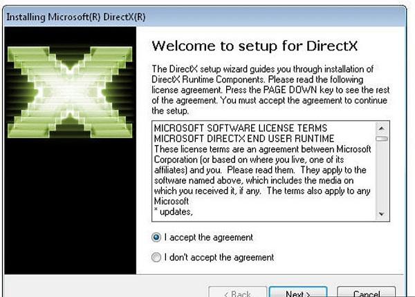 обновление DirectX