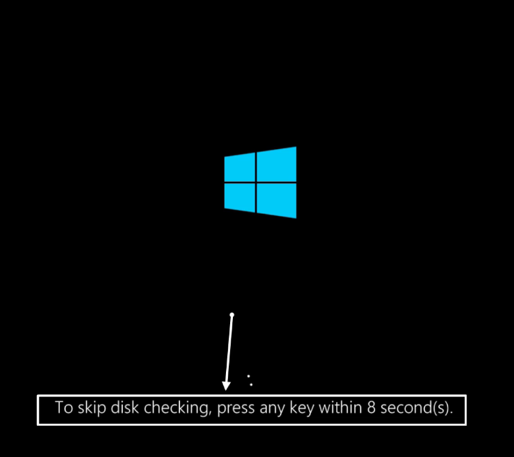 To skip disk checking press any key within (цифра) seconds