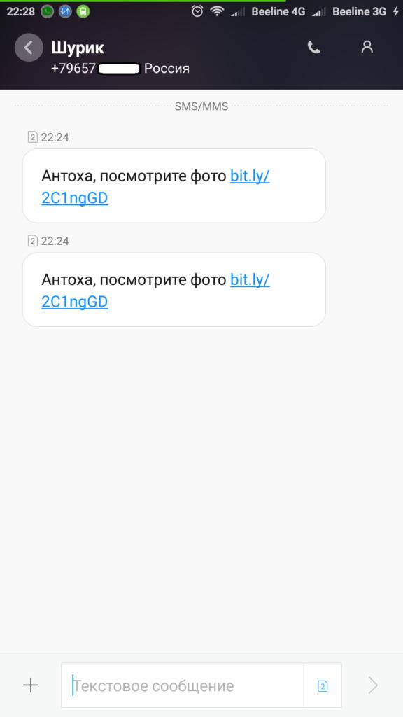 Bit.ly: что это за сайт, почему пришла СМС «Посмотри фото»