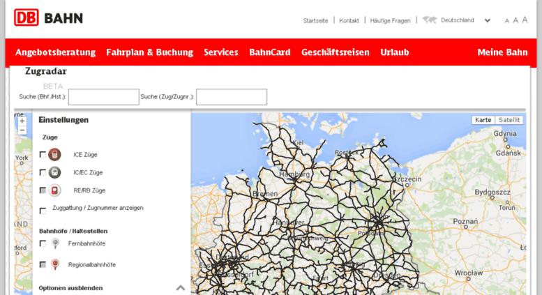 Сервис для ЖД-путешественников по Германии